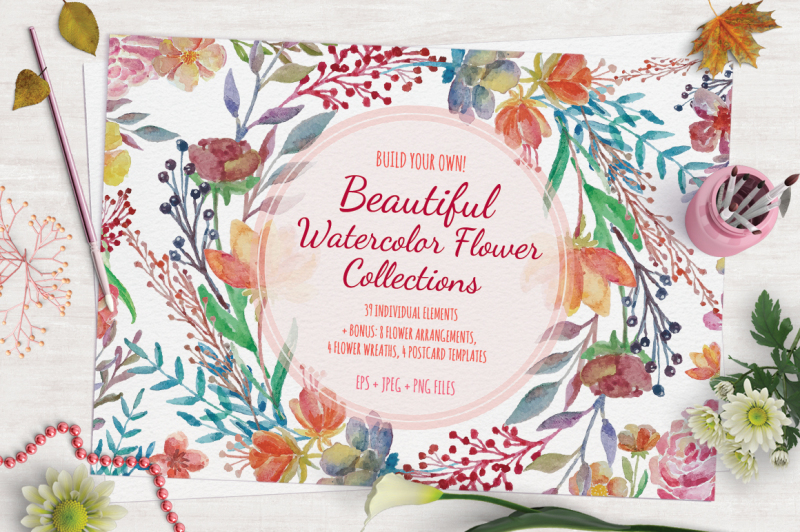 beautiful-watercolor-flower-collections