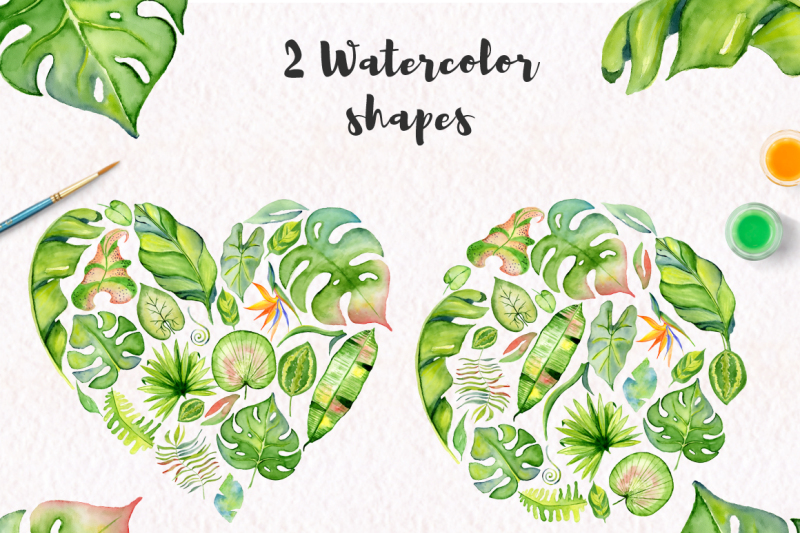 tropical-leaves-watercolor-jungle-clipart-90-png