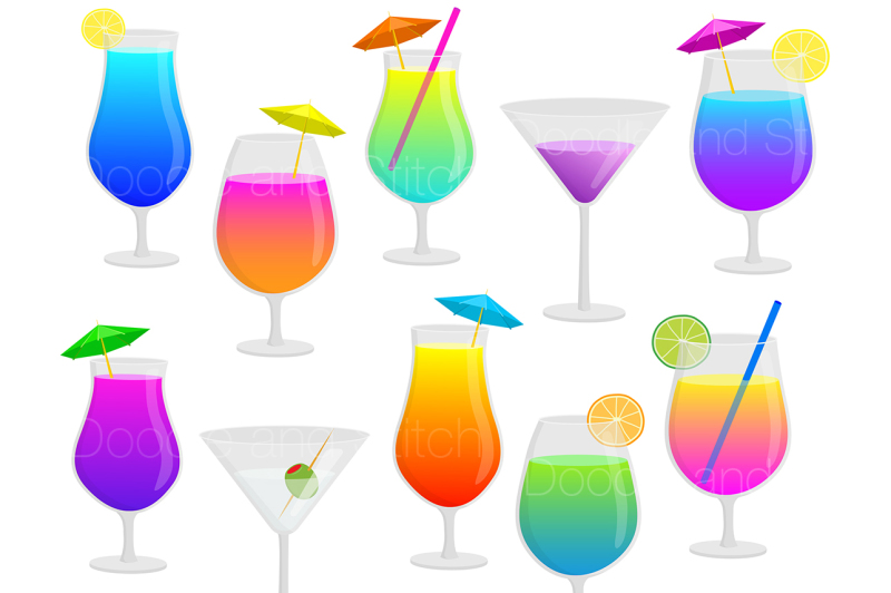 cocktails-clipart-illustration-set