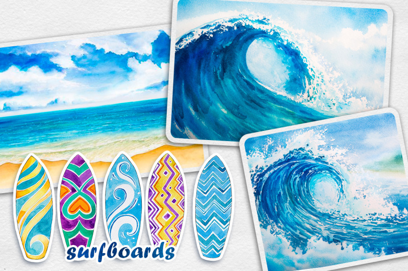 surfing-watercolor-set
