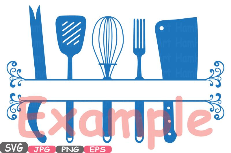 Split Kitchen Svg File Cutting Files Cricut Amp Cameo