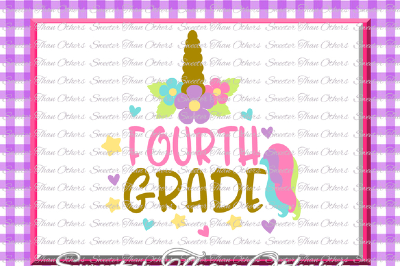 unicorn-svg-fourth-grade-svg-4th-grade-cut-file-first-day-of-school-svg-dxf-files-silhouette-studios-cameo-cricut-instant-download-scal