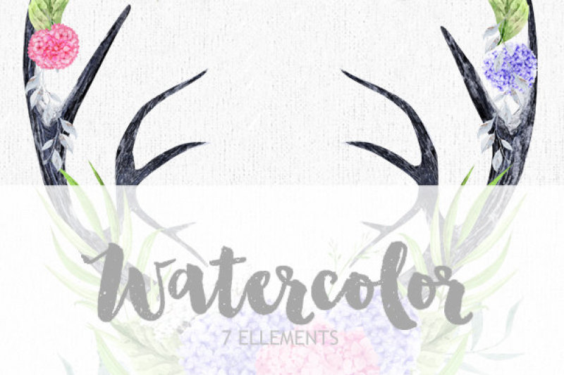 70-off-skull-deer-with-antlers-hand-painted-horns-fern-peony-sprigs-wild-boho-clipart-wedding-flowers-bohemian-tribe