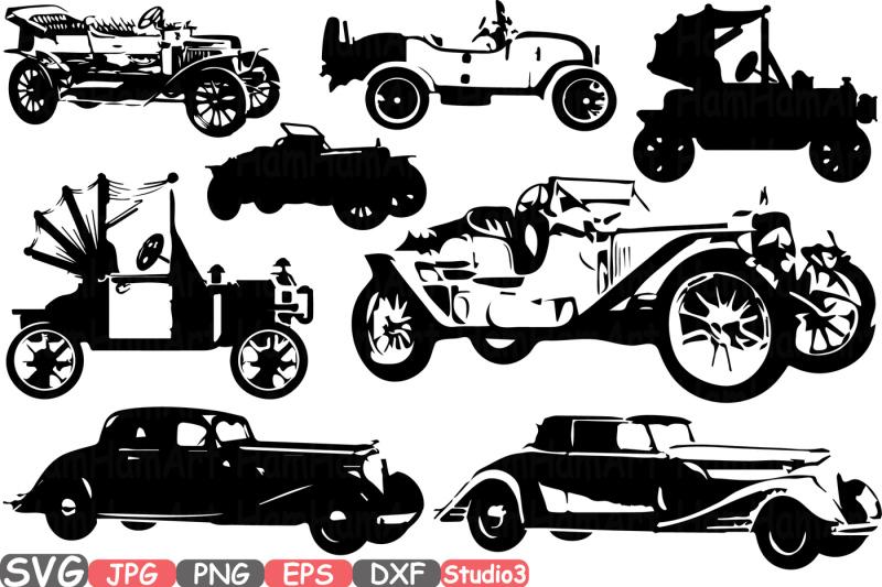 old-vintage-cars-svg-silhouette-cutting-files-sign-icons-cricut-design-studio3-cameo-vinyl-monogram-antique-car-retro-sport-clipart-671s