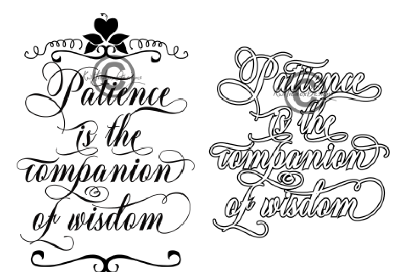 patience-svg-patience-is-the-companion-of-wisdom-svg-eps-dxf-png-file