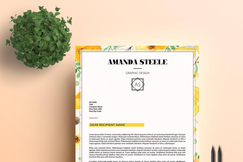 floral-resume-template-cv-template-letterhead-n