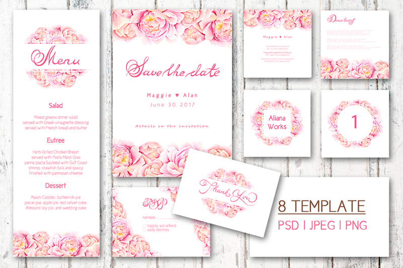 watercolor-wedding-set-pink-dreams