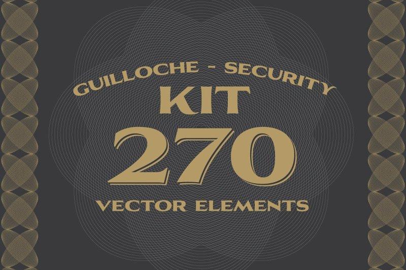 270-vectors-guilloche-security-kit