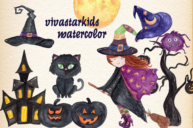 watercolor-kids-halloween-clipart