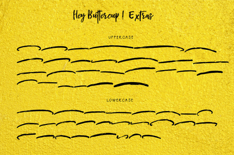 hey-buttercup-font-extras