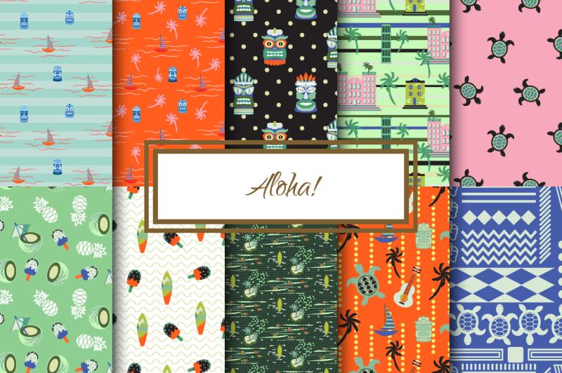 aloha-seamless-patterns-set