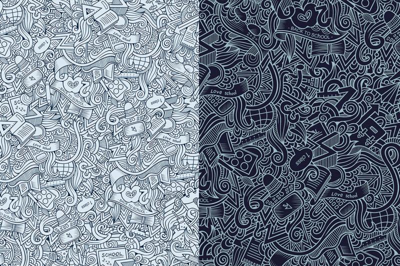 9-school-seamless-patterns-set