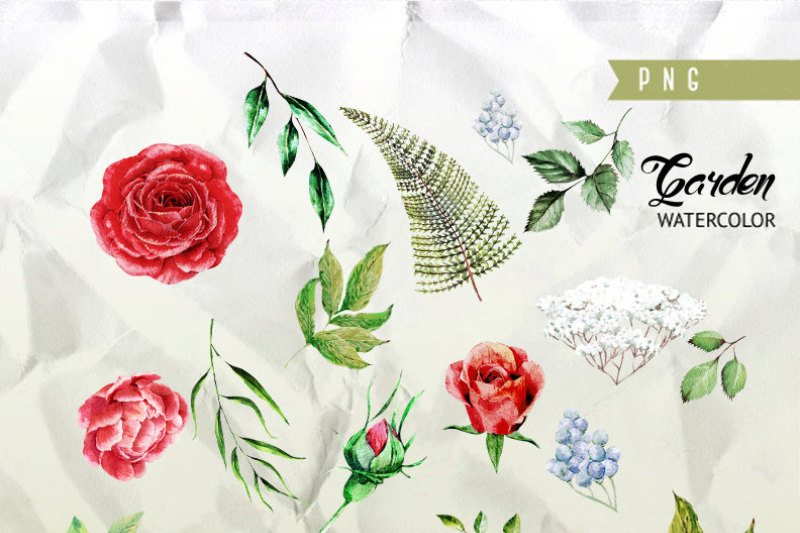 wedding-watercolor-flowers-english-roses-brunia-fern-leaves-eucalyptus-hand-painted-clipart-invitations-greeting-card-diy