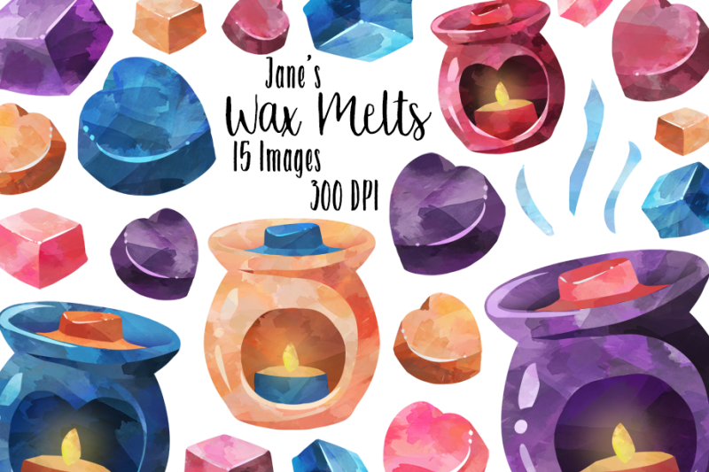 watercolor-wax-melts-clipart