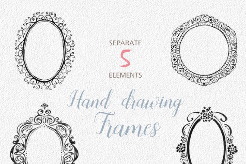 digital-download-watercolor-cliparts-frames-flourish-digital-cliparts-for-branding-and-scrapbooking-vintage-wedding-design