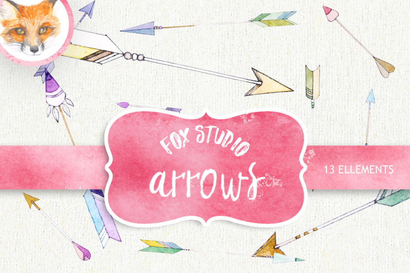 arrow-clipart-painted-watercolor-clipart-hearts-and-arrows-handdraw