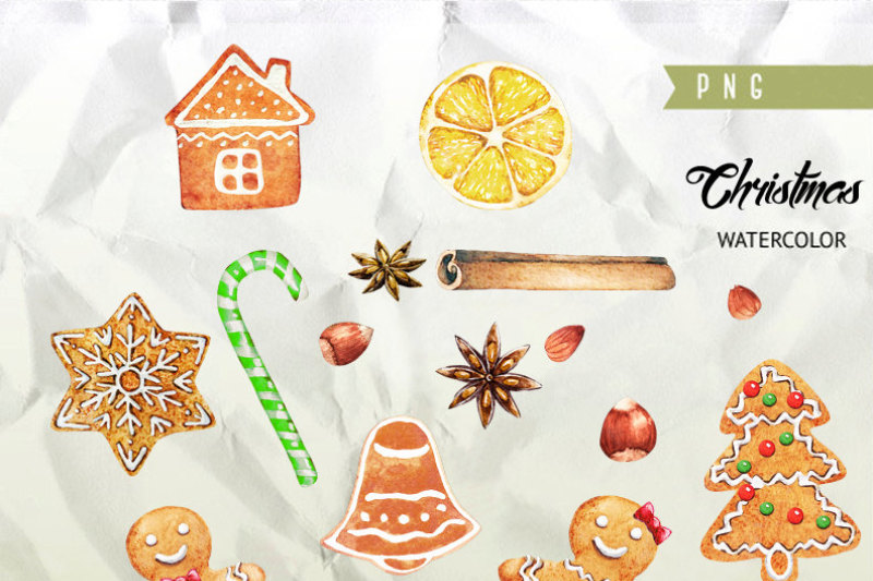watercolor-christmas-gingerbreads-candy-canes-cookies-holiday-new-year-decoration-hand-painted-clip-art-diy-invitations-greeting-card