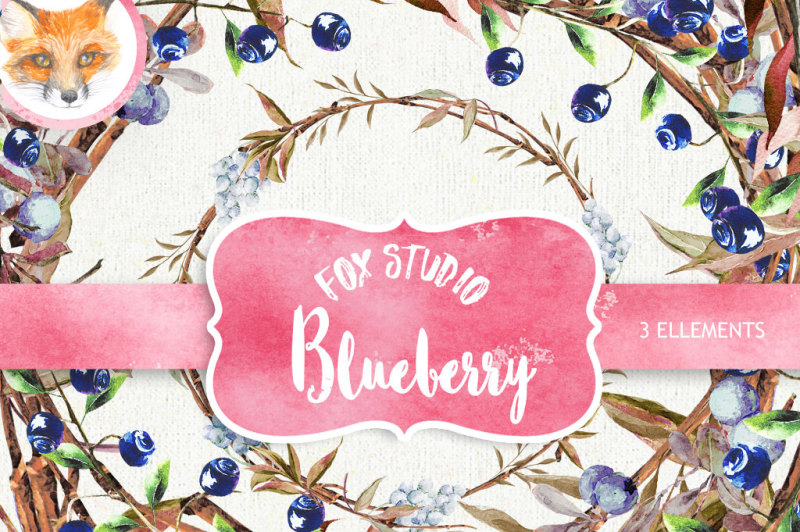 watercolor-clipart-blueberry-clipart-clip-art-wreath-watercolor-clip-art-digital-scrapbook-wedding-clipart-wreath-clipart-diy-crafts