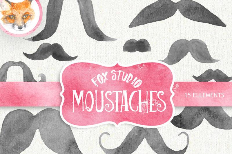 mustache-watercolor-clipart-moustache-printable-french-mustache-moustache-art-digital-clipart-hand-painted-clipart-instant-download