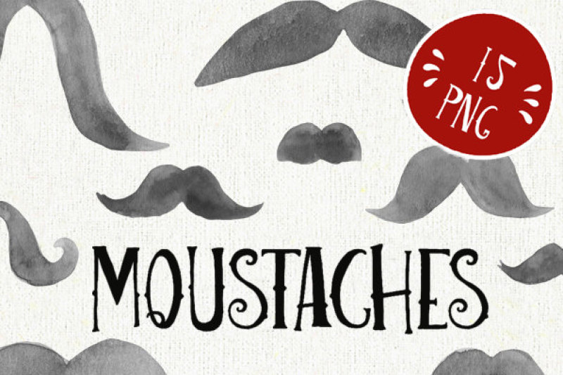 picture about Printable Moustaches named Mustache watercolor clipart, moustache printable, french