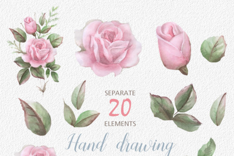 english-roses-watercolour-clipart-hand-painted-watercolour-floral-wedding-diy-elements-flowers-invite-printable
