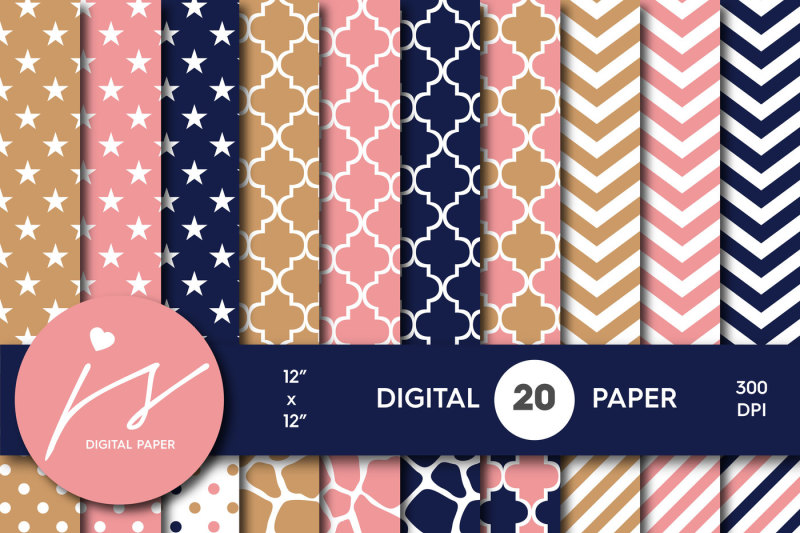 pink-navy-and-brown-digital-paper-bu-65