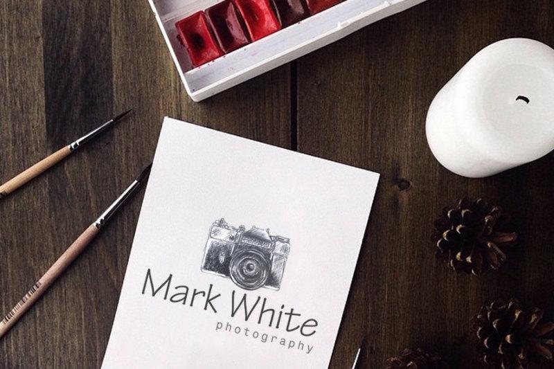 photography-logo-camera-logo-design-watermark-logo-diy-psd-photoshop-template