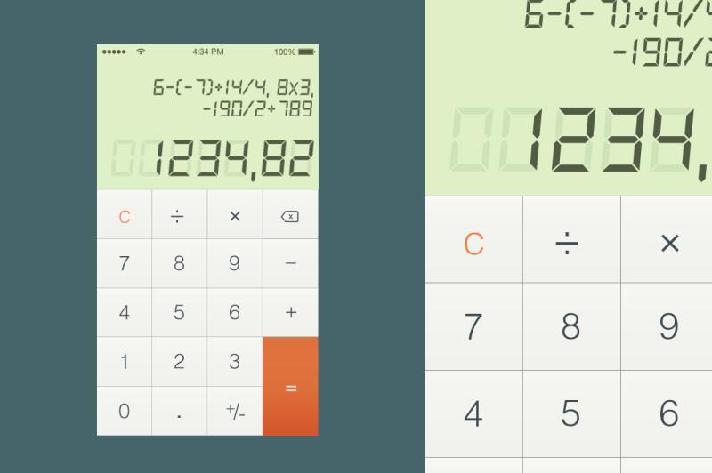 calculator-user-interface