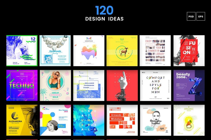 120 In 1 Social Media Templates Bundle By Amber Graphics Thehungryjpeg Com