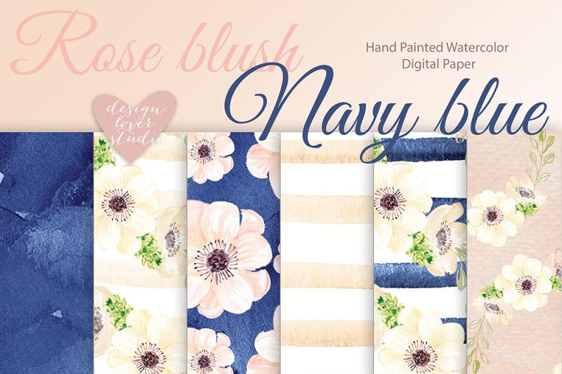watercolor-rose-blush-navy-blue