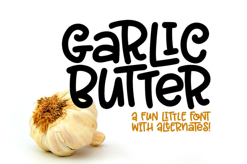 garlic-butter-a-tasty-fun-font