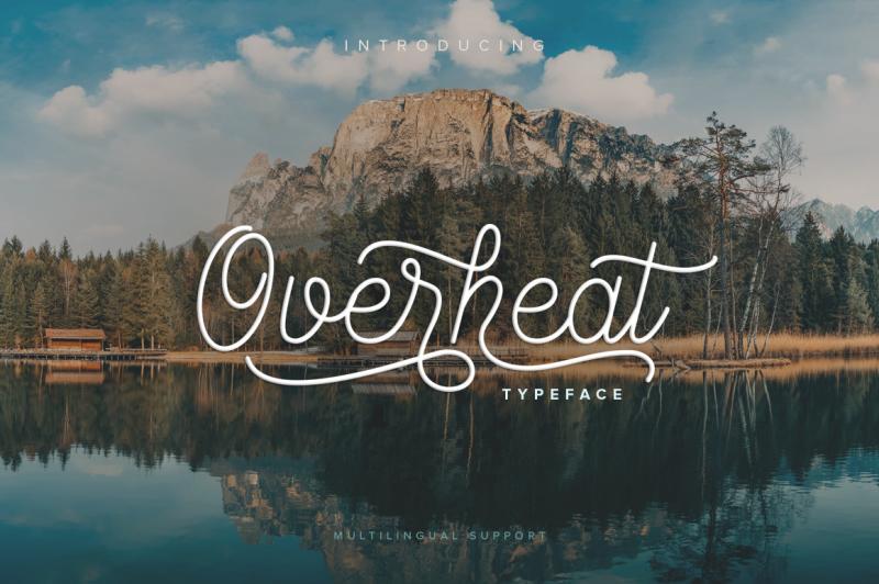 overheat-typeface