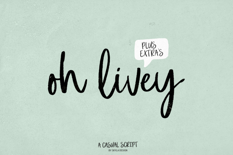 a-casual-brush-script-oh-livey-extra-clipart