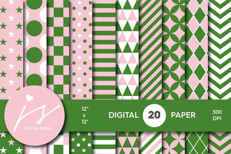 pink-and-green-digital-paper-mi-635