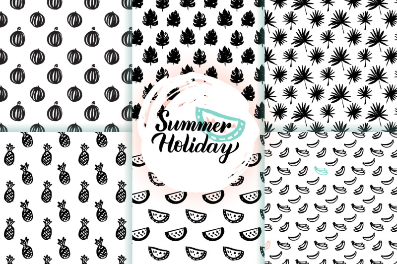 trendy-summer-seamless-patterns