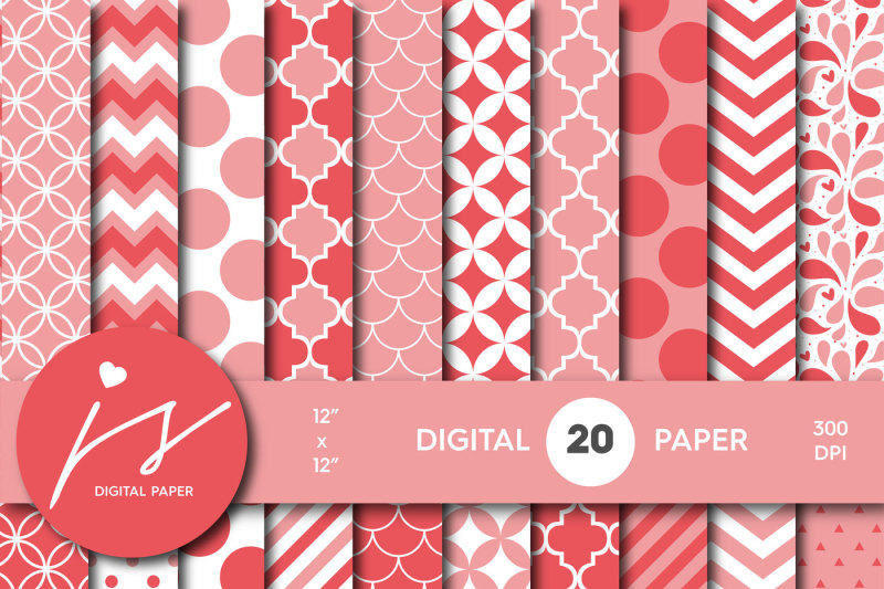 pink-digital-paper-with-stripes-polka-dots-chevron-mermaid-and-triangle-patterns-mi-479