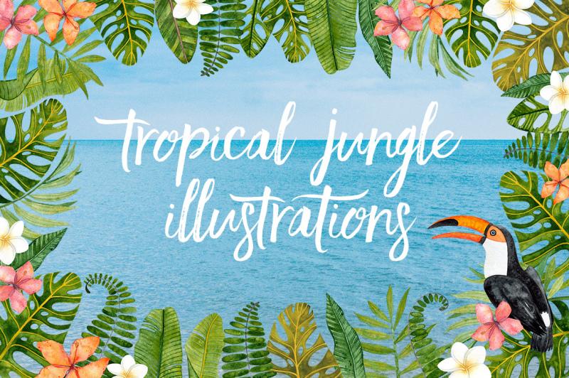 tropical-summer-watercolor-set