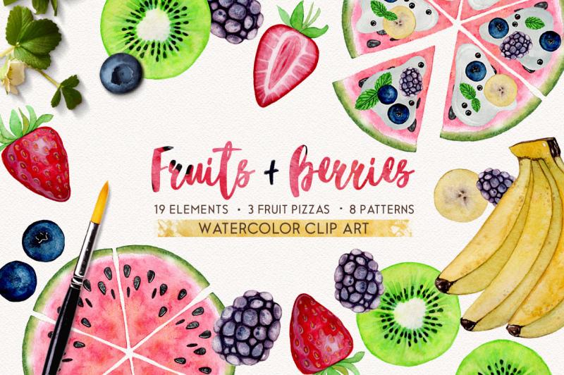fruits-berries-watercolor-set