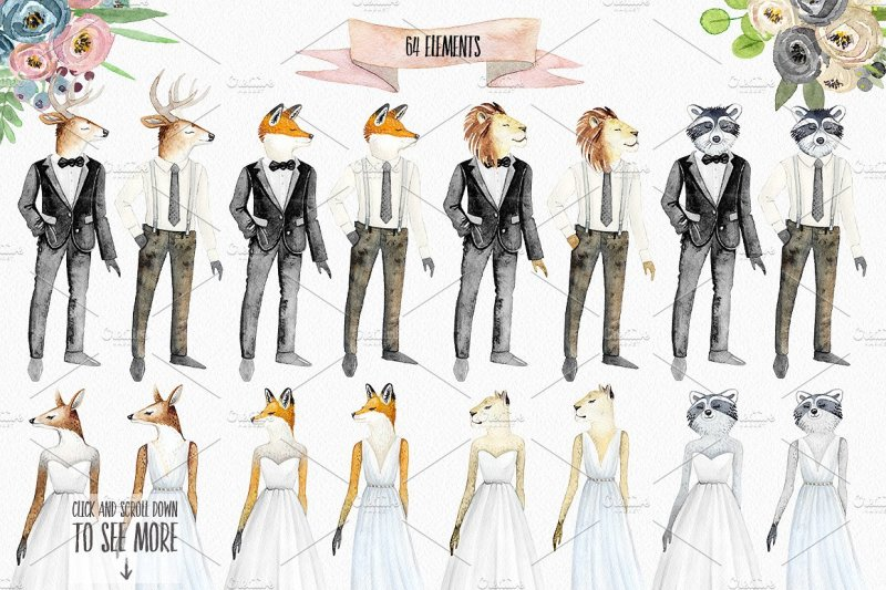 wedding-character-creator-watercolor-set