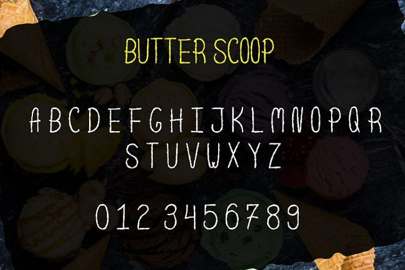 scoop-delicious-handdrawn-font
