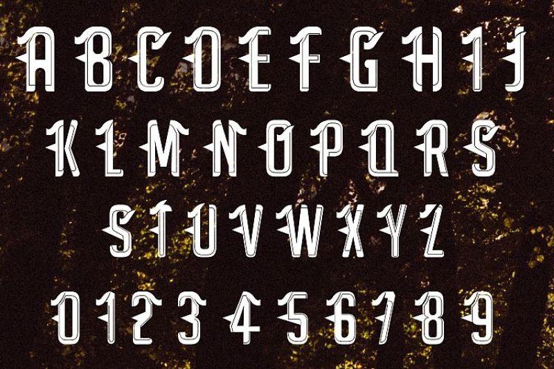 satan-modern-tattoo-font