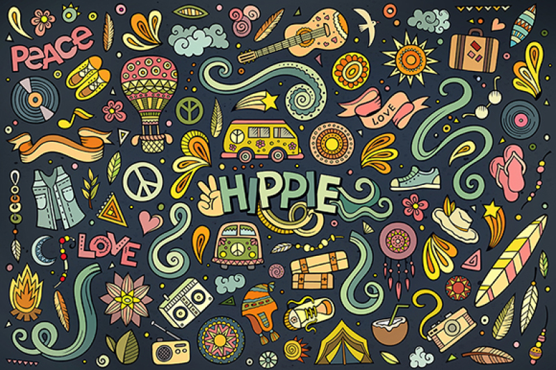 hippie-objects-and-symbols-set