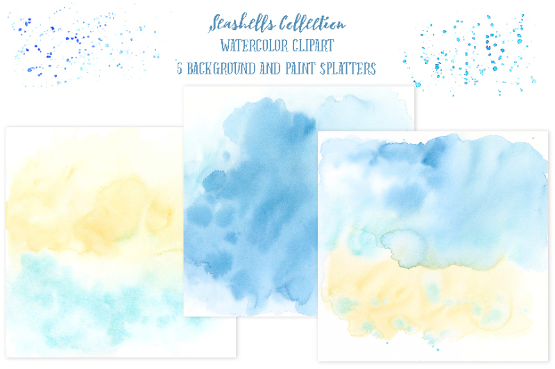 watercolor-clipart-seashell-collection