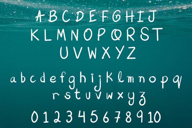 aqua-beach-hand-drawn-grunge-font