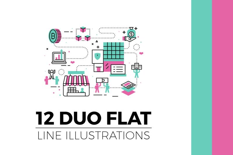 flat-line-web-banner-illustration