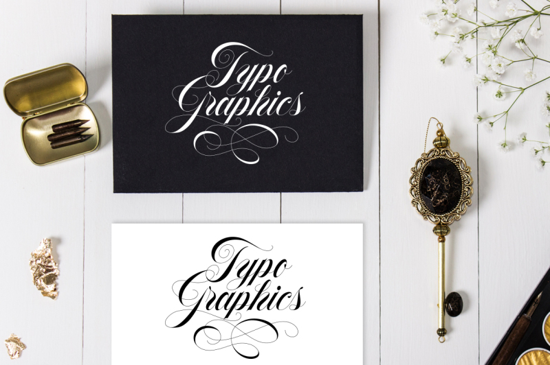 flourish-typeface