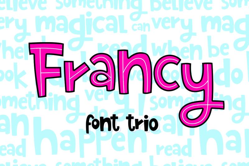 francy-typeface-creative-font-trio