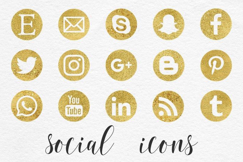 gold-social-media-icons