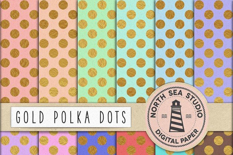 gold-polka-dot-digital-paper