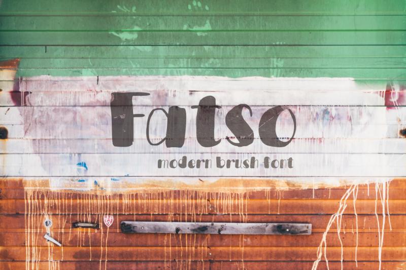 fatso-handwritten-font